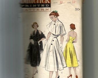 Butterick Misses' Halter Dress: Cape or Stole Pattern 6084
