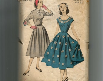Advance Misses' Dress Pattern 5846
