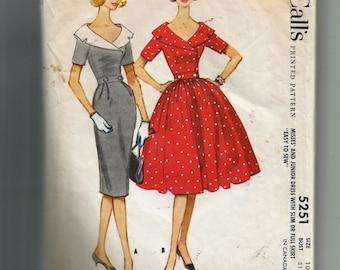 McCall's  Misses' Dress Pattern 5251