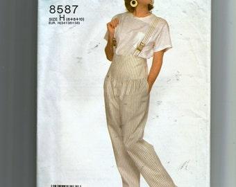 Simplicity Misses' Suspender Pants Pattern 8587