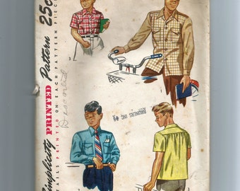 Simplicity Boys' Shirt Pattern 2049