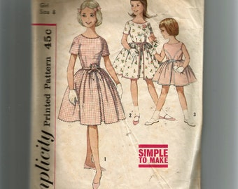 Simplicity Girls' One-Piece Dress Pattern 4366