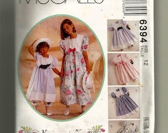 McCall's Girls' Dress,Pantaloons and Hatband Pattern 6394