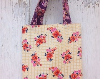 40% FLASH SALE- Floral Tote Bag-Library Bag