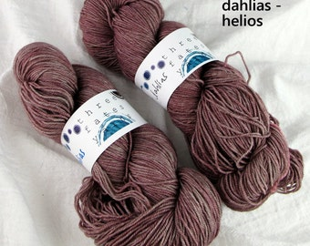 dahlias - helios fingering weight