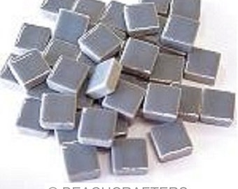 50 - 3/8 inch LIGHT GRAY Ceramic Mosaic Tiles