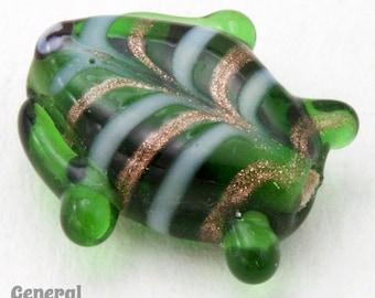 18mm Green Lampwork Fish Bead (10 Pcs)  #4567