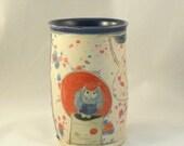 Ceramic Tumbler  - No handle teacup -  flower vase, pencil cup or toothbrush holder - wine tumbler or cup - utensil holder for kitchen T166