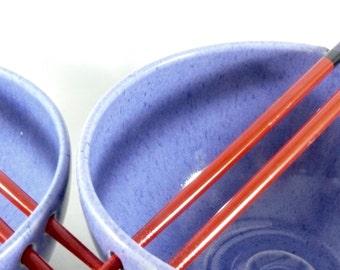 Pho bowl with chopsticks -  Noodle Bowl / Rice bowl / chopstick bowl in purple / asian food dish / oriental serving dish
