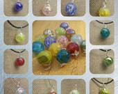 Necklaces- Crackled Marbles
