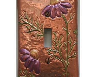 Copper Purple cozmos switch plate