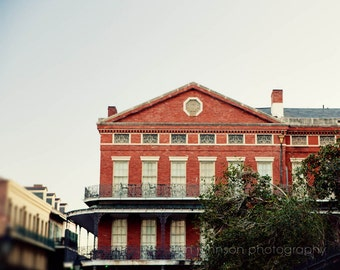 french quarter architecture art, new orleans photography, pontalba building, jackson square, balcony art, new orleans art