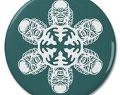 """Creature From The Black Lagoon Snowflake 2.25"""" Pinback Pin Button Badge"""