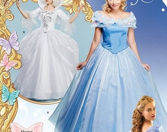 Simplicity 1026 Sewing Pattern Cinderella & Fairy Godmother Costume Gowns Misses Size HH 6-14