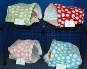 Guinea Pig Snuggle Huts 10x10 or 12x13 or 14x15 FREEstanding snuggle bag, w/without  waterproof pads, fleece sleep sack play sack hideout