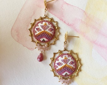 semerang - celebratory magical guava mango earrings
