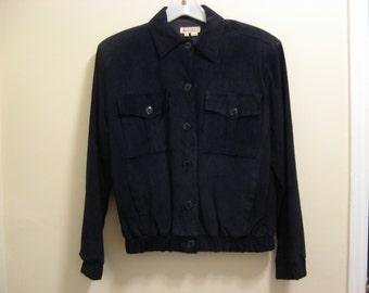 Vintage Woman's Black Suede Jacket 1980's