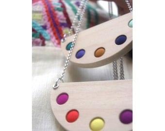Timber + Textile - Arc Necklace