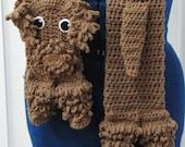 Labradoodle Dog Scarf Crochet Pattern