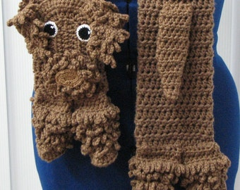 Crochet Labradoodle Dog Scarf Made to Order