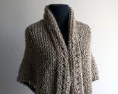 Tammy Medium Custom Made Hand Knit Triangle Shawl Free Shipping