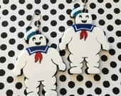 Stay Puft Marshmallow Man Laser Cut Acrylic Laser Cut Earrings