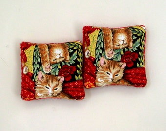 Two Catnip Filled Cat Toys Tabby Kittens Cats