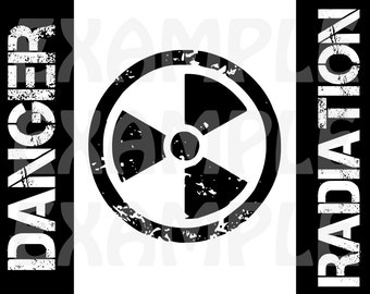 PDF: Danger Radiation Sign - Halloween Sign Party Warning Caution Zone Silhouette Biohazard