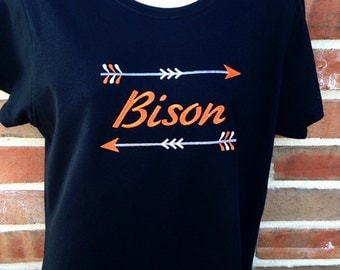 NEW Personalized Arrow School Spirit Shirt Customized in Your Team Colors