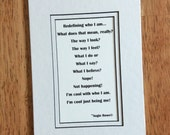 Poetry Print with 5 x 7 mat - Staying True To Who You Are