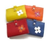 Medium Women's Wallet with Dogwood Flower Design in CUSTOM Colors by Tender Roni *Choose Your Own Colors*