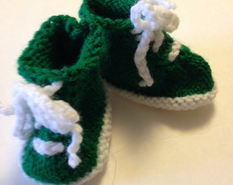 Green and White Tennis Bootiesw