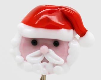 made to order Margo lampwork beads santa head