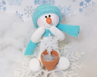 Snowman ornament: Growing snowflake plants