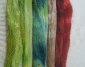 NEW Hand Dyed Firestar and Snow Mountain Nylon Grab bag 12 grams N-9
