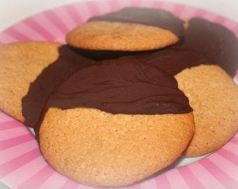 Paleo Gluten-Free Fudge Dipped Cookies - Half Dozen