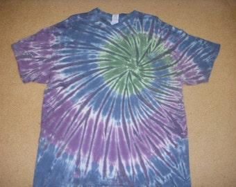 XL tie dye tshirt, earthy swirl, extra large