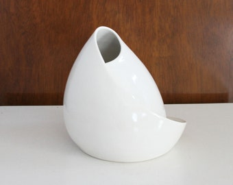 Mid Century Inspired White Sculpture - Porcelain Conversation Piece in White No. 7 - Handmade Pottery Sculpture