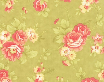 Farmhouse - Rose in Meadow: sku 20250-17 cotton quilting fabric by Fig Tree and Co for Moda Fabrics - 1 yard
