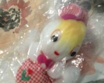 vintage yarn easter bunny rabbit decoration .still in package