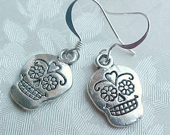 Day of the Dead Earrings Dangle Earrings Day of the Dead Jewelry Dia de los Muertos Earrings Dia de los Muertos Jewelry Sugar Skull Earrings