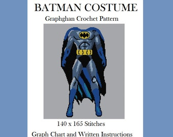 Batman Costume - Graphghan Crochet Pattern