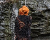 continuum scarf // ltd edition // rust and black