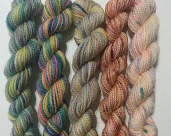 Bashful - 5 Koigu KPPPM sock yarn mini skeins