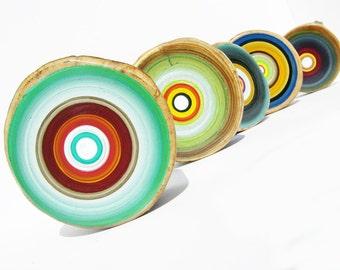tree ring painting, wood art, modern art, modern wood art, live edge wood, art, mid century modern, B1