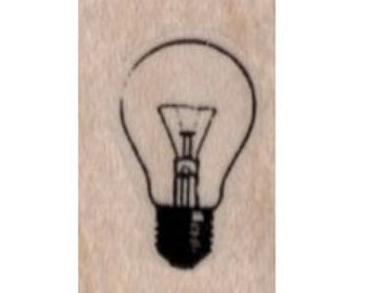 Rubber stamp Small Lightbulb   stamps stamping  scrapbooking supplies number 19881