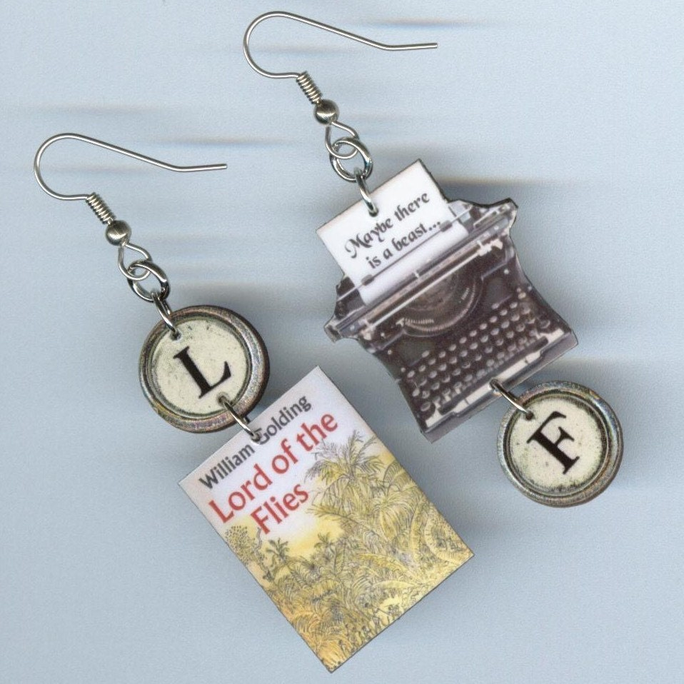 book cover earrings lord of the flies quote challenged