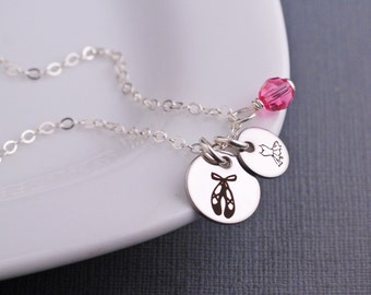 Necklace for Ballerina, Ballet Charm Necklace, Personalized Ballerina Gift, Dancer Necklace Gift