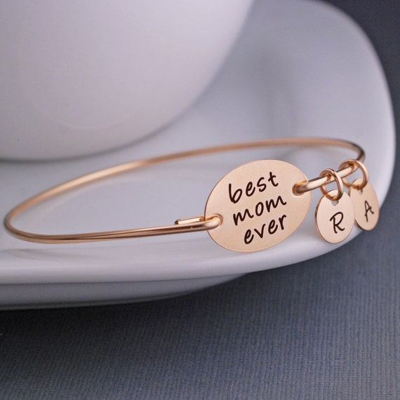 Gift for Mom, Mother Jewelry, Gold Best Mom Ever, Mother's Day Gift for Mom with Personalized Charms