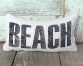 Beach -  Burlap Feed Sack Doorstop - Coastal Door Stop